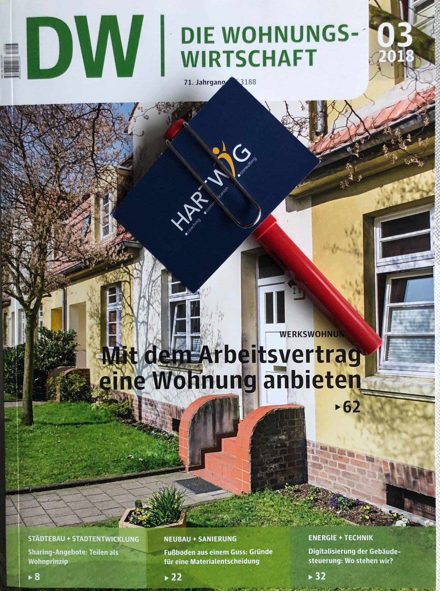 """Auftrag vom Fachmagazin """"Die Wohnungswirtschaft"""""""