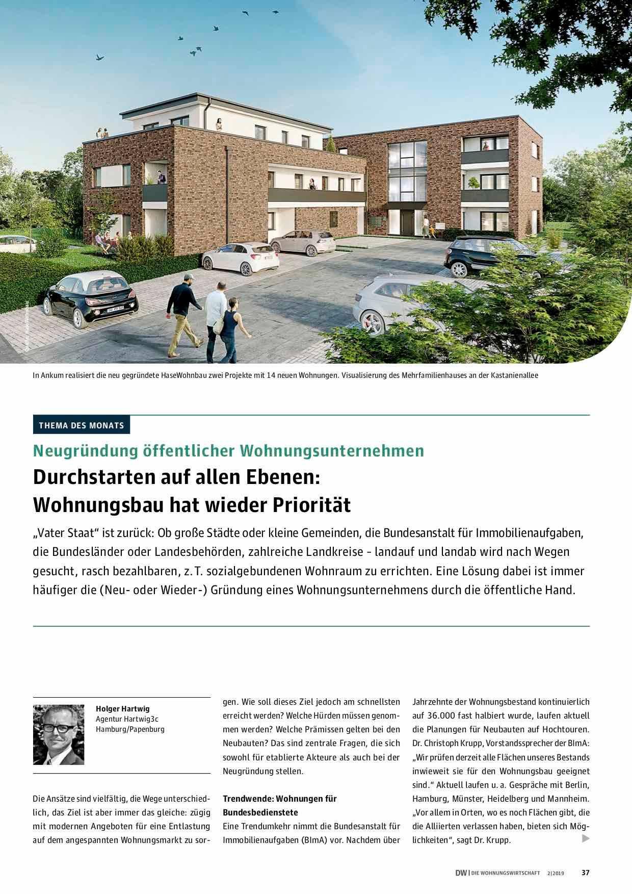 """Thema des Monats in """"Die Wohnungswirtschaft"""""""