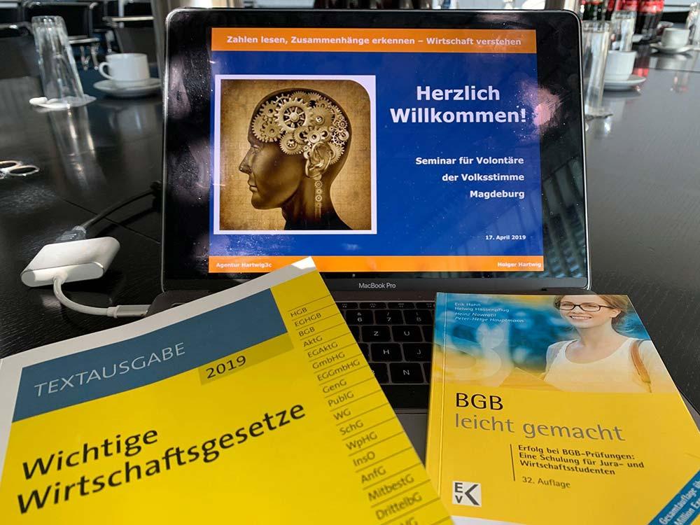 Coaching für Jungjournalisten der Volksstimme Magdeburg
