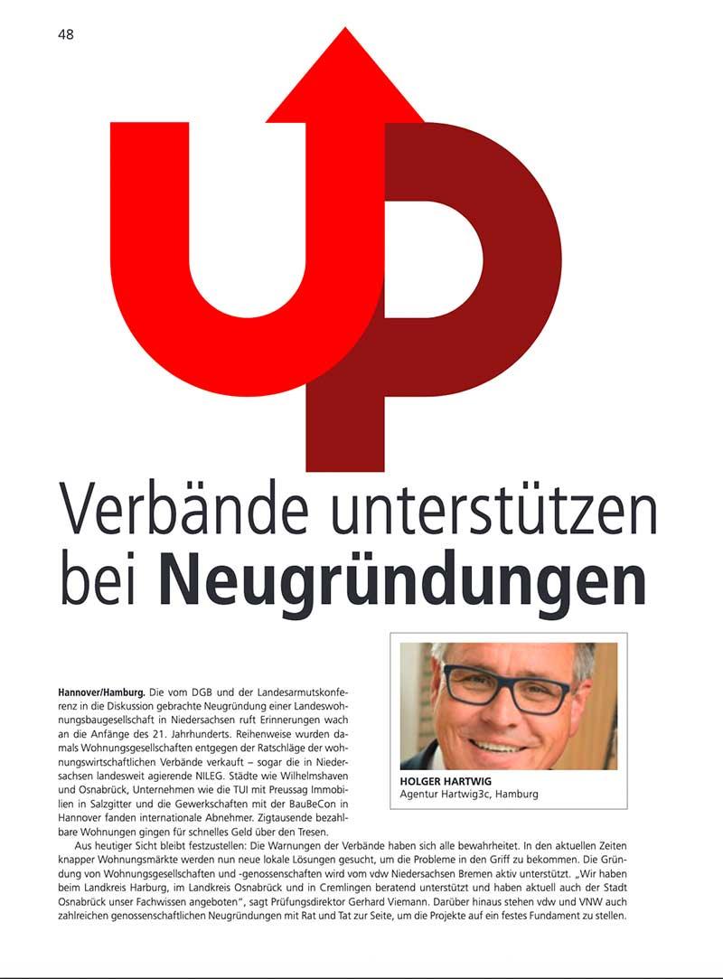 Autor für Magazin des vdw Niedersachsen-Bremen