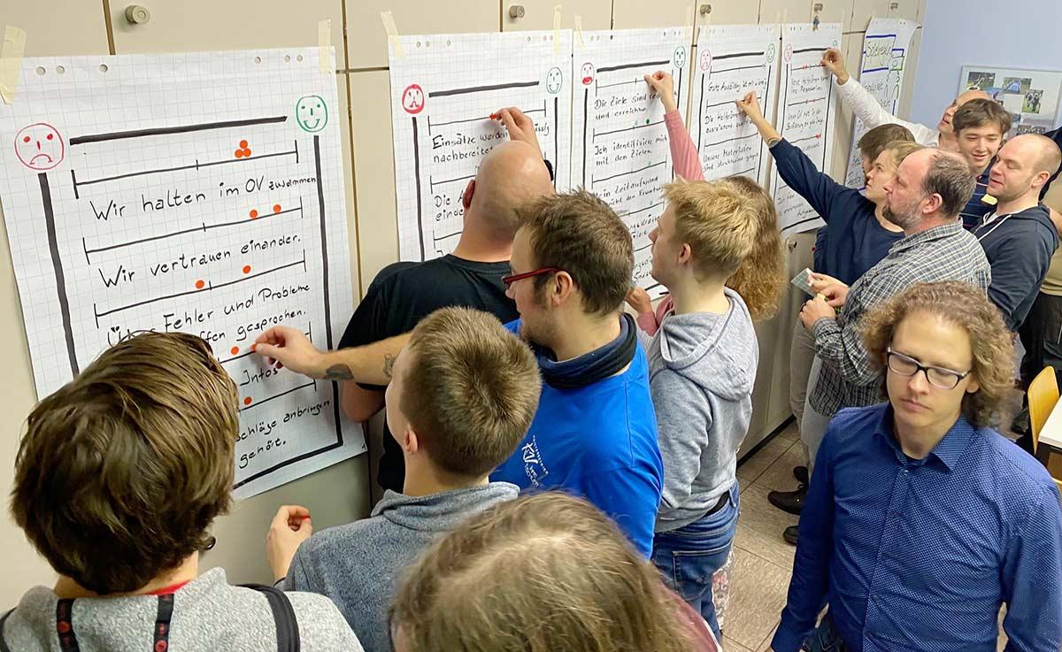 Coaching beim THW OV Berlin-Mitte